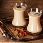 Hot tea with milk — Stock Photo #37750395