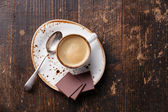 Espresso cup with chocolate — Stock Photo