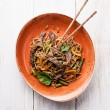 Fried noodles Yakisoba — Stock Photo