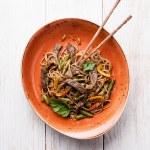 Fried noodles Yakisoba — Stock Photo