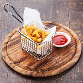 French fries in baskets — Stock Photo