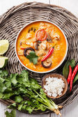 Soup Tom Yam with Coconut milk — Stock Photo