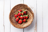 Strawberry in bowl — Stock Photo