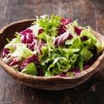 Fresh salad leaves mix — Stock Photo