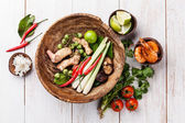 Ingredients for spicy Thai soup — Stock Photo