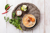 Spicy Thai soup Tom Yam — Foto Stock