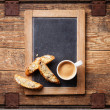 Coffee cup and biscotti — Stock Photo #46387683