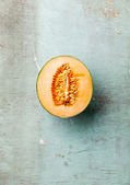Ripe cantaloupe melon — Stock Photo