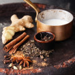 Ingredients for Indian masala tea — Stock Photo #48879653