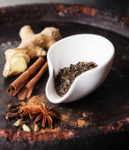 Ingredients for Indian masala tea — 图库照片