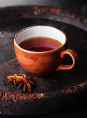 Hot tea with spices — Stock Photo