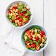 Lettuce salad with avocado and strawberry — Stock Photo #49187169