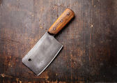 Vintage Meat cleaver — Stock Photo