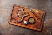 Grilled T-Bone Steak — Stock Photo