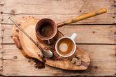 Coffee in coffee pot — Stock Photo