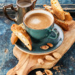 Coffee cup and cantucci — Stock Photo #51667353