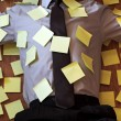 Adhesive note reminder overload — Stock Photo