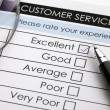 Постер, плакат: Customer service satisfaction survey