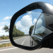 Rear view mirror — Stock fotografie