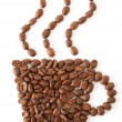 Coffee bean cup — Stock Photo