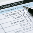 Customer service satisfaction survey — Stock Photo