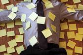 Adhesive note reminder overload — Stock Photo