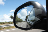 Rear view mirror — Stock Photo