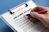 Employment agreement contract — Stock Photo