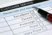 Encuesta de satisfacción de servicio al cliente — Foto de Stock