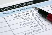 Customer service satisfaction survey — Stock Photo