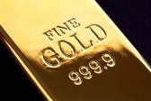 Gold ingot — Stock Photo