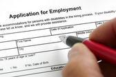 Toepassing voor de werkgelegenheid — Stockfoto