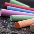 Colorful sticks of chalk — Stock Photo #24511965