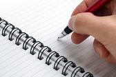 Writing notes — Stock Photo