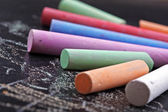 Colorful sticks of chalk — Stock Photo