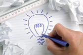 Having a bright idea — 图库照片
