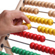 Calculating with an abacus — Stock Photo
