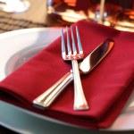 Restaurant dinner place setting — Stock Photo #24523947