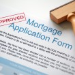 Stock Photo: Approved mortgage application