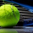 Постер, плакат: Tennis racket and ball