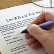 Stock Photo: Signing Last Will and Testament