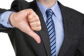 Thumbs down hand gesture — Stock Photo
