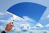 Jasne, błękitne niebo — Zdjęcie stockowe