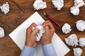 Frustration stress and writers block — Stock Photo