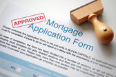 Approved mortgage application — Stock Photo