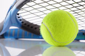 Tennis racket and ball — Stock Photo