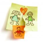 divórcio e criança custódia — Foto Stock