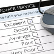 Постер, плакат: Online customer service satisfaction survey