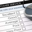 Stock Photo: Online customer service satisfaction survey