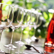 Постер, плакат: Wine glass and place settings
